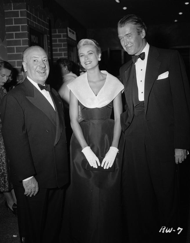 Estreno de la ventana indiscreta, Alfred Hichkot, Grace Kelly y James Stewart